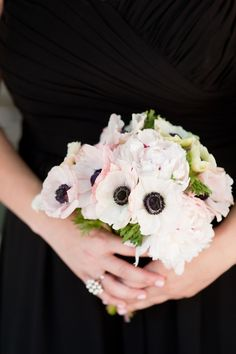 Black and White Bridesmaid Bouqet