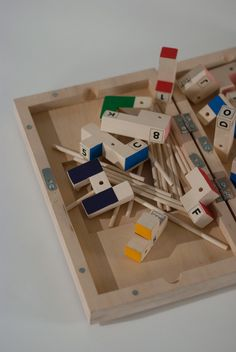A box. Wood, acrylic paint, adhesive film, magnet, recycled paper and cardboard. Ideas and work. Tibloc. Tibloc by Mathieu Daudelinis a playground box consisting of various forms of wooden blocks.Its …