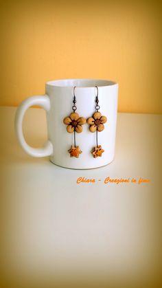 orecchini fiori e stelle #fimo #handmade