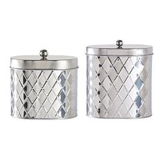 Amici Seychelles Oval Metal Diamond Canister, Stainless S... https://smile.amazon.com/dp/B010HAAM6E/ref=cm_sw_r_pi_dp_lHaxxbRAN1KTE