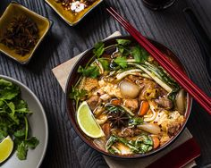If you're looking to change up your soup routine, this Szechuan style slow cooker Chinese pork stew is remarkably easy in the slow cooker. Healthy Crockpot Recipes, Pork Recipes, Slow Cooker Recipes, Cooking Recipes, Slow Cooking, Delicious Recipes, Freezer Recipes, Asian Cooking, Fall Recipes