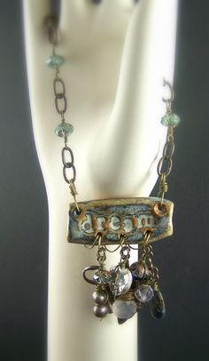 Inspiration jewelry - Can make this from recycled pop cans or other recycled tin. One custom necklace/bracelet set for auction donation.