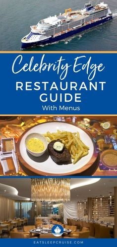 Check out all the restaurants on Celebrity Cruises' newest ship, Celebrity Edge including all the Restaurant Menus to help you plan your cruise. Cruise Checklist, Cruise Tips, Cruise Travel, Cruise Vacation, Vacation Travel, Italy Vacation, Disney Cruise, Celebrity Cruise Ships, Celebrity Cruises