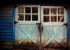 Blue Barn, Montpelier Station, Virginia by Jennifer Glass