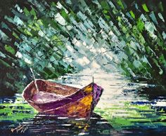 """Oil on canvas - may 2015 - 16""""-20"""" - palette knife"""