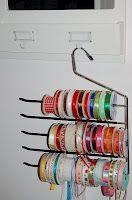 My new craft room: ribbon storage 1