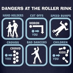 Dangers at the Roller Rink. Why I always wear at least my knee pads at fun skate Roller Skating Rink, Roller Derby Skates, Quad Skates, Roller Rink, Roller Blading, Roller Disco, Inline Speed Skates, Figure Skating, Things That Bounce