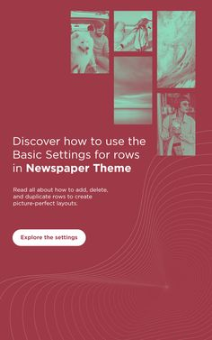 👉 Explore Newspaper Theme's row settings so that you get access to the basics of the tagDiv Composer page builder and begin creating wonderful new pages and templates! #Mondays #tipsandtricks #article #tagDiv #tagDivnews #newspaper #WordPress #dailyui #rowbasics #features #settings #draganddrop #frontend #customizability #professional #newspapertheme #digital #design #designinspiration #webdesign #uiux #uxdesign #responsive #creative #responsive #2021 #website #blogging #blog #news Reading Themes, Daily Ui, Mondays, Wordpress Theme, Newspaper, The Row, Blogging, Web Design, Design Inspiration