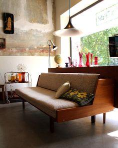 Hans Wegner Getema GE258 Designer Sofa Teak Daybed von Stattfein auf DaWanda.com