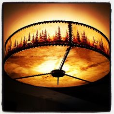 Killer Western, hand-painted lampshade.