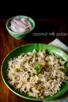 coconut milk pulao recipe - fragrant, mild pulao made with mixed veggies and coconut milk.