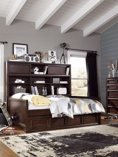 Complete Full Bookcase Daybed with Storage. Benchmark Full Size Bookcase Daybed with Underbed Storage Drawer