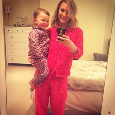 Mummy daughter pyjama party!  #pinkpyjamas #pyjamaparty #bedtime #emiliatommasina #annasaccone #emiliasacconejoly #mummydaughter #matchymatchy #juicycouture
