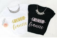 Girlfriend, Fiancee Shirt  Fiancee Shirt Bride Shirt Wedding Gift Bridal Shower Does this ring make me look engaged Engagement Announcement