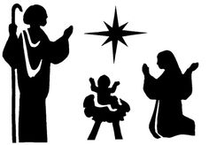 siluetas navideñas gratis - Buscar con Google Black N White Images, Black And White, Nativity Clipart, Nativity Silhouette, Quilting Stencils, Twelve Days Of Christmas, Book Folding, Pyrography, Xmas Decorations