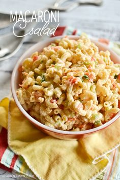 Macaroni Salad with shrimp would be great with #WildPlanet Shrimp - Yum!