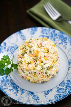 Russian Style Crab Salad Recipe ( in English )