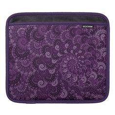 Purple Swirl Fractal Pattern Sleeve For iPads