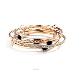 Love the details on these bangles! Just Jewelry: Skinny Minis $22 #gold #bracelet #gift #wishlist