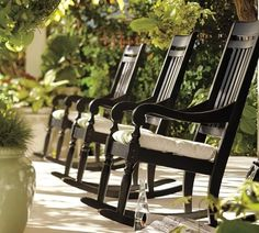 rocking chairs on the porch.. Oh yeah, and don't forget the bottle of pop or iced tea.