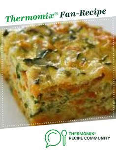 Recipe Zucchini Slice (Lactose Free, Gluten Free & FODMAP friendly) by Lisa-H, learn to make this recipe easily in your kitchen machine and discover other Thermomix recipes in Main dishes - vegetarian. Quiche Recipes, Veggie Recipes, Cooking Recipes, Dairy Free Zucchini Slice, Fodmap Recipes, Gluten Free Recipes, Gluten Free Quiche, Vegetable Slice, Recipes