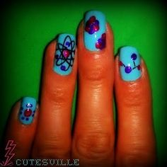 atomic nails / manicure - bonus points for various structure types