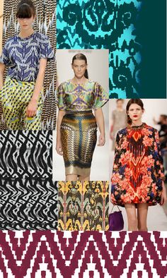 Josie Holuj - Printed Textiles : Trend Inspiration - Contemporary Ikats ss14