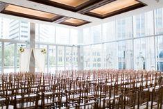 Southern Savvy Events | Kate & Billy | Wedding Ceremony | Foundation For The Carolinas Wedding | Chiavari Chairs | Uptown Wedding | Downtown Charlotte | Museum Wedding | Skyline | Charlotte's Got A Lot | Wedding Ceremony Setup