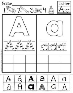 ABC Cut and Paste Fonts!  Helps with upper and lowercase letter identification…