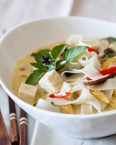 Vegetable Curry Noodle Soup Recipe - use rice noodles to make gluten-free