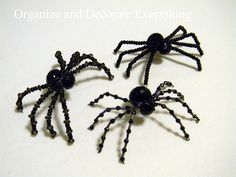 blinged out spiders.. love em will try to make these for next year