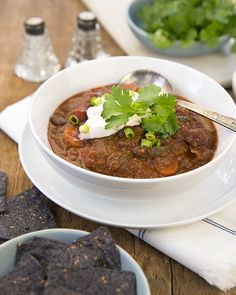 Hot & Spicy Vegan Chili with Lentil-Walnut Meat | A Dash of Compassion