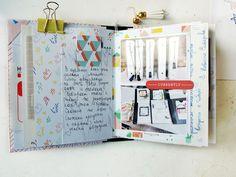 Traval mini album and origami layout – Pinkfresh Studio