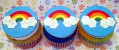Rainbows! Great for a Girl Scout Bridging Ceremony. cupcakes by dusty