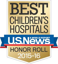 Please join us in celebrating! We've been named #5 on U.S. News & World Report's Best Children's Hospitals' Honor Roll for 2015-16.