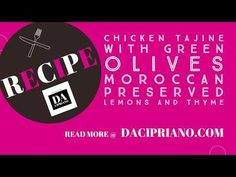 Moroccan Chicken Tajine with green olives and preserved lemons Today's Recipe, Recipe Today, Tajin Recipes, African Stew, Switzerland Hotels, Moroccan Chicken, Preserved Lemons, Cooking Dishes, Food T