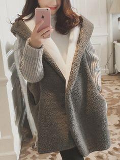 FSSE Mens Long Sleeve Slim Knit Open Front Longline Cardigan Sweater