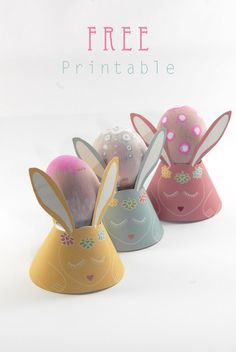 free-printable GREAT FOR PRINT AND CUT bunny egg cups spring easter