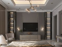 Master Bedroom on Behance Modern Master Bedroom, Master Bedroom Design, Contemporary Bedroom, Modern Luxury Bedroom, Luxury Bedroom Design, Bedroom Wall Units, Tv In Bedroom, Living Room Tv Unit Designs, Bathroom Design Inspiration
