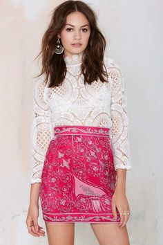 Emilio Pucci Elora Silk Skirt | Shop Designer Vintage at Nasty Gal