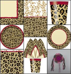 Leopard/cheetah Animal Print Birthday Party Tableware In Cheetah Print Party Decorations - Best Home & Party Decoration Ideas Cheetah Print Party, Animal Print Party, Leopard Party, Adult Birthday Party, Birthday Ideas, 40th Birthday, Cheetah Birthday, Safari Party, Safari Theme