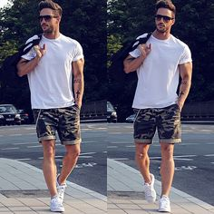 Army shorts #men #fashion