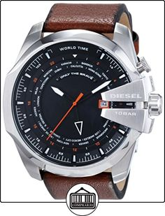 Diesel  - Reloj de cuarzo para hombre, correa de cuero color marrón de  ✿ Relojes para hombre - (Gama media/alta) ✿
