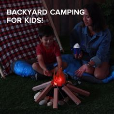 Backyard Camping Ideas For Kids // #camping #outdoors #campingforkids #backyardcamping
