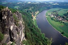 Elbe River of Central Europe
