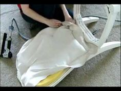 Upholstering the Back of a Padded Dining Room Chair {Part 2} - YouTube