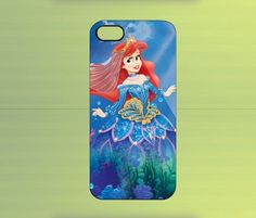 Ariel Mermaid Disney for iPhone 4/4S iPhone 5 Galaxy S2/S3/S4 & Z10   WorldWideCase - Accessories on ArtFire