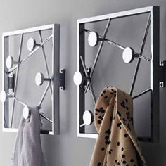 33 designer clothes rack and wall-mounted coat for the entrance, – Coat Hanger Design Towel Hanger, Coat Hanger, Wall Hanger, Clothes Hanger, Entry Way Design, Wall Design, Do It Yourself Organization, Diy Hooks, Wall Mounted Coat Rack