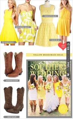 yellow bridesmaid ideas   CHECK OUT MORE IDEAS AT WEDDINGPINS.NET   #bridesmaids