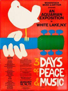 Original Woodstock Poster, 1969